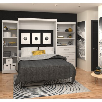 Rudolph Queen Murphy Bed Color: White