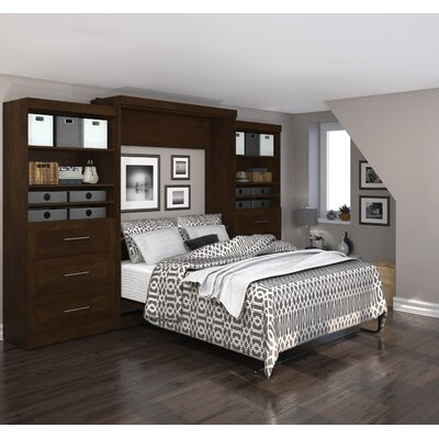 Sammy Queen Murphy Bed Color: Chocolate