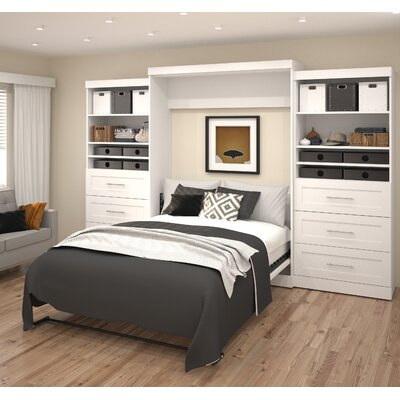 Sammy Queen Murphy Bed Color: White