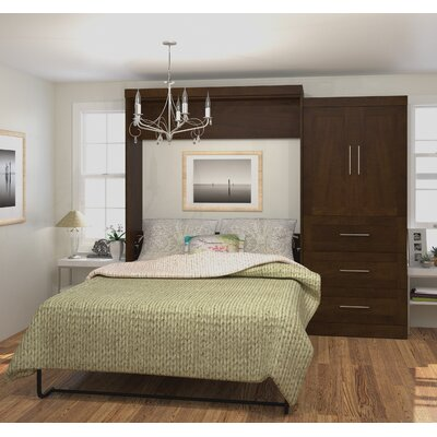 Shanna Queen Murphy Bed Color: Chocolate