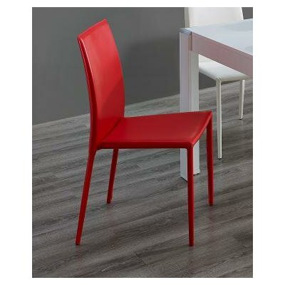 Nannie 5 Piece Dining Set Upholstery: Red