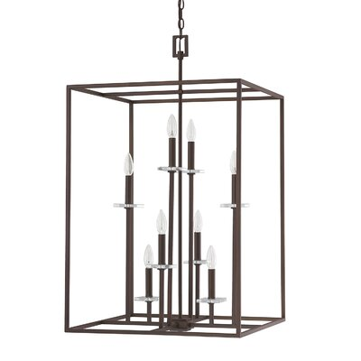 Malcolm 8-Light Foyer Pendant Finish: Burnished Bronze
