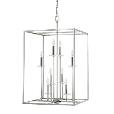 Malcolm 8-Light Foyer Pendant Finish: Polished Nickel