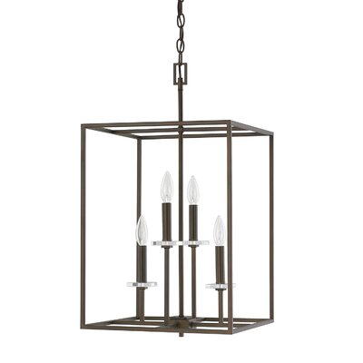 Malcolm 4-Light Foyer Pendant Finish: Burnished Bronze, Size: 26.75 H x 15 W
