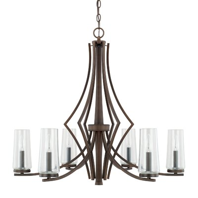 Mollie 6-Light Candle-Style Chandelier Finish: Burnished Bronze