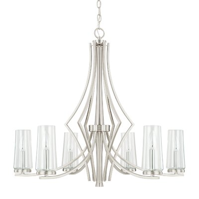 Mollie 6-Light Candle-Style Chandelier Finish: Brushed Nickel
