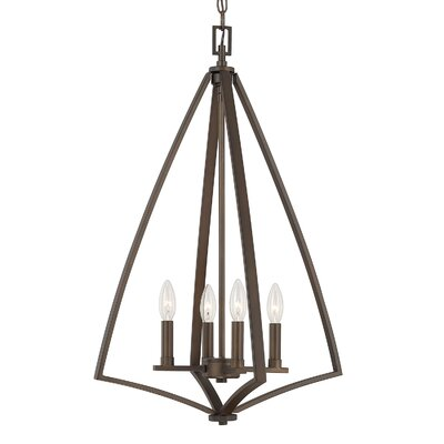 Lora 4-Light Foyer Pendant Finish: Burnished Bronze