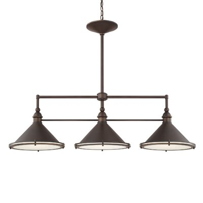 Luz 3-Light Kitchen Island Pendant Finish: Burnished Bronze
