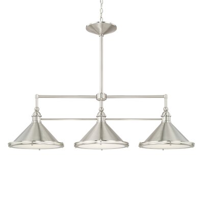 Luz 3-Light Kitchen Island Pendant Finish: Brushed Nickel