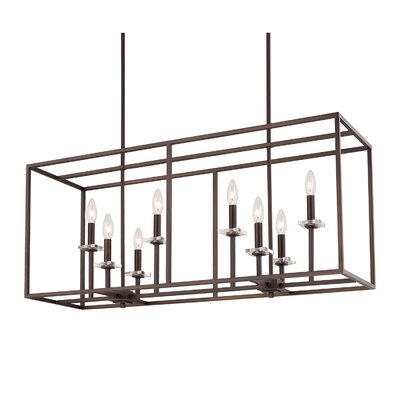Malcolm 8-Light Kitchen Island Pendant Finish: Burnished Bronze