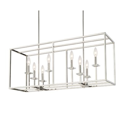 Malcolm 8-Light Kitchen Island Pendant Finish: Polished Nickel