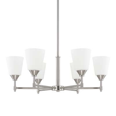 Luz 6-Light Shaded Chandelier