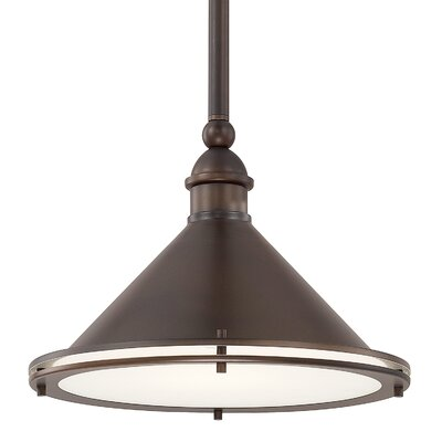 Luz 1-Light Bowl Pendant Finish: Burnished Bronze