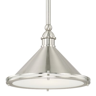 Luz 1-Light Bowl Pendant Finish: Brushed Nickel