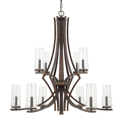 Mollie 10-Light Candle-Style Chandelier Finish: Burnished Bronze
