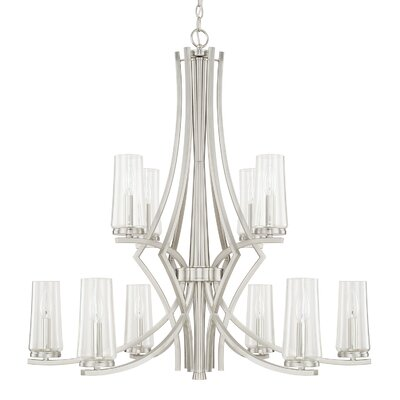 Mollie 10-Light Candle-Style Chandelier Finish: Brushed Nickel