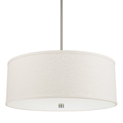 Lynne 4-Light Drum Pendant Finish: Matte Nickel