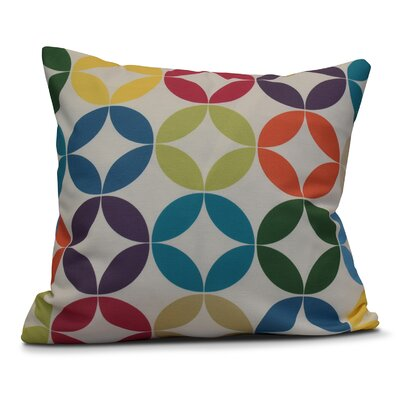 Francisco Eye Opener Indoor/Outdoor Throw Pillow Color: Turquoise, Size: 20 H x 20 W