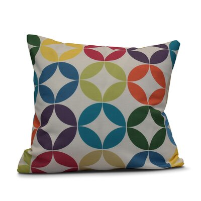 Francisco Eye Opener Throw Pillow Color: Turquoise, Size: 26 H x 26 W
