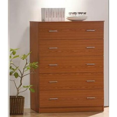 Jamison 5 Drawer Jumbo Chest Color: Cherry