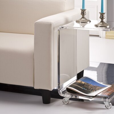 Brozany Half End Table Finish: Clear