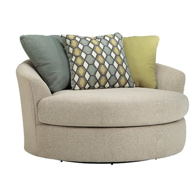 Bradfield Oversized Swivel Barrel Chair