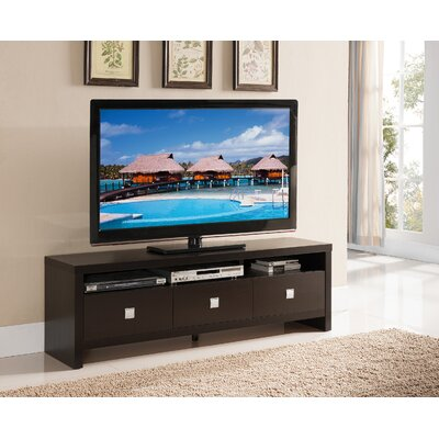 Queen 72 TV Stand Color: Cappuccino, Width of TV Stand: 19 H x 72 W x 15.5 D