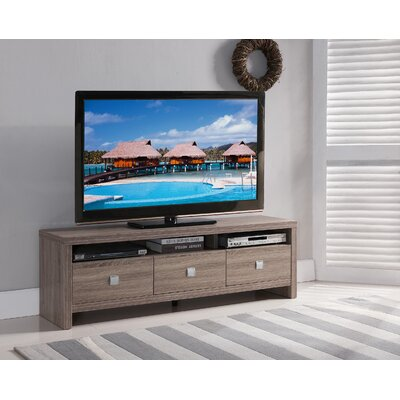 Queen 72 TV Stand Color: Light Oak, Width of TV Stand: 19 H x 60 W x 15.5 D