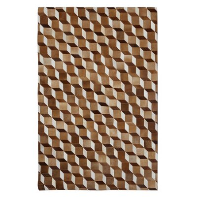 Mai Beige/Brown Area Rug Rug Size: 8 x 10