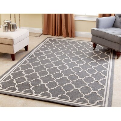 Worsley Hand-Tufted Gray Area Rug Rug Size: 5 x 8