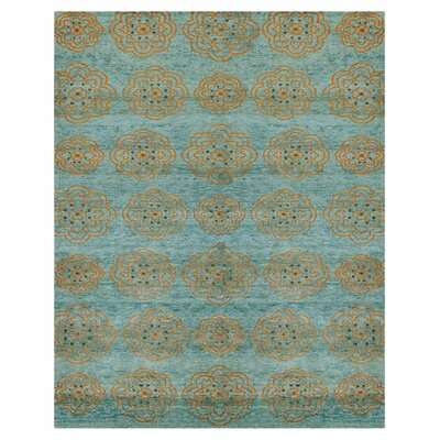 Cody Blue/Tan Area Rug Rug Size: 4 x 6
