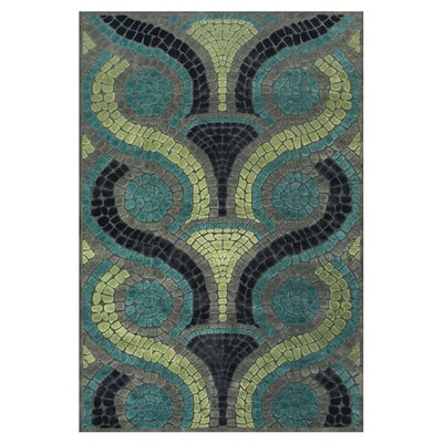 Colin Blue/Yellow Area Rug Rug Size: 53 x 76