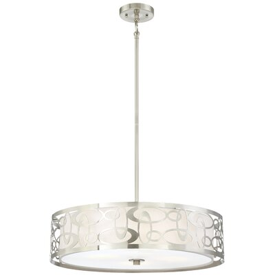Weiser 4 Light Drum Pendant