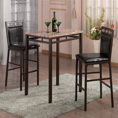 Eric 3 Piece Pub Table Set