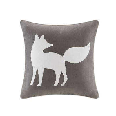 Erica Fox Embroidered Suede Throw Pillow Color: Gray