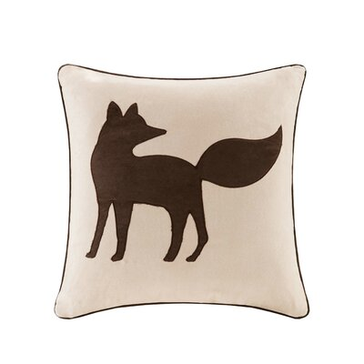 Cathi Fox Suede Throw Pillow Color: Tan