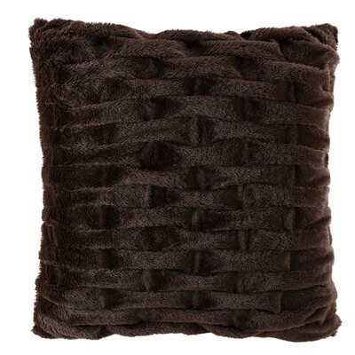 Kanesha Ruched Faux Fur Throw Pillow Color: Brown