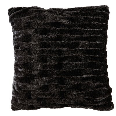 Kanesha Ruched Faux Fur Throw Pillow Color: Black
