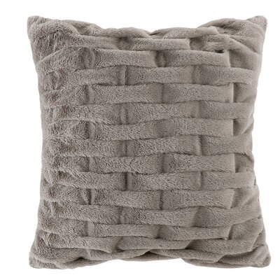 Erika Ruched Throw Pillow Color: Grey
