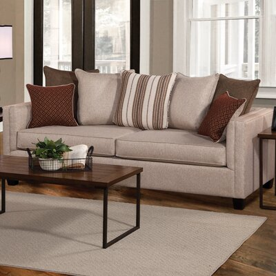 Serta Upholstery Earline Pop Up Sleeper Sofa Upholstery: Reflex Mahogany