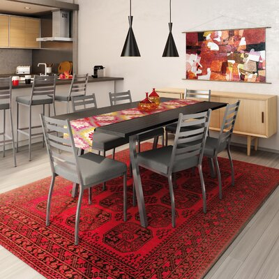 Lizzie 7 Piece Dining Set Finish: Gray / Medium Gray