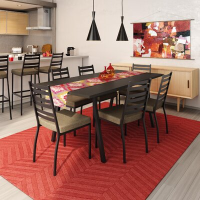 Lizzie 7 Piece Dining Set Finish: Textured Dark Brown / Medium Brown