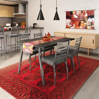 Lizzie 5 Piece Dining Set Finish: Gray / Medium Gray