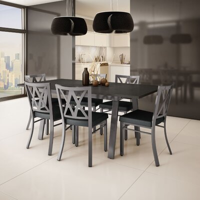 Micheal 7 Piece Dining Set Finish: Gray / Charcoal Black