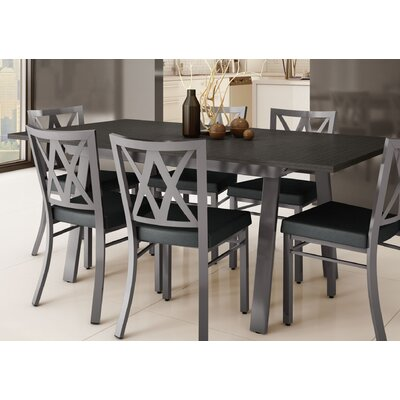 Micheal 9 Piece Dining Set Finish: Gray / Charcoal Black