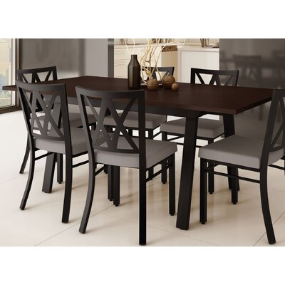 Micheal 9 Piece Dining Set Finish: Textured Dark Brown / Warm Gray