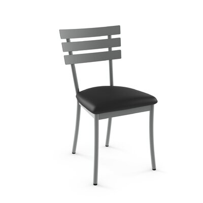 Austin Side Chair Finish: Glossy Grey Metal/Black P.V.C.