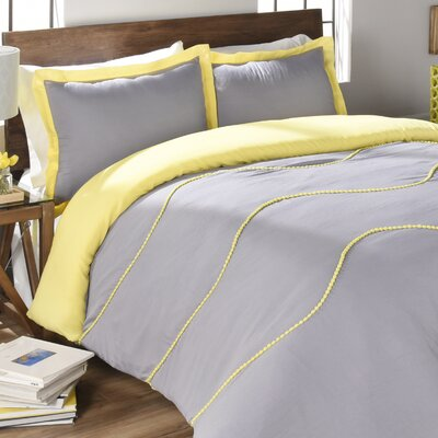 Clifford Comforter Set Color: Gray, Size: King