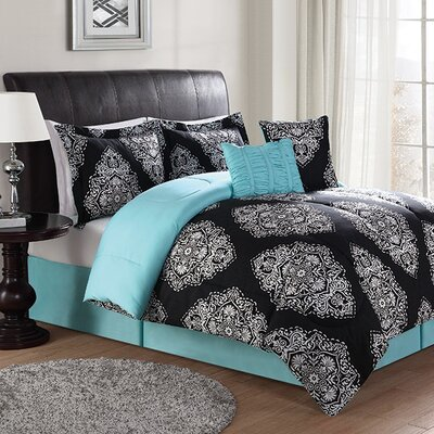 Lyle 7 Piece Comforter Set Size: Queen