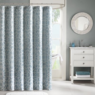 Kane Jacquard Shower Curtain Color: Blue